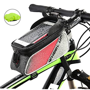 Bolsa Bicicleta Cuadro Impermeable Bolso Manillar Bici Con ...
