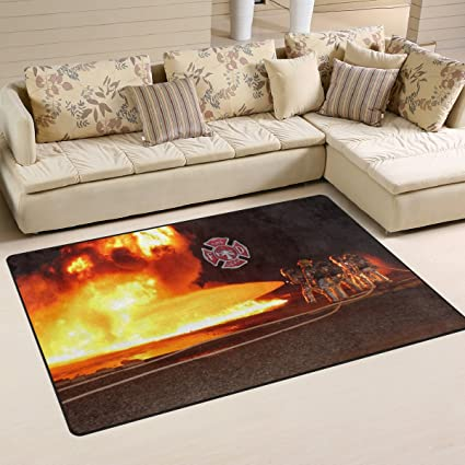 Amazon Com Abbylife Fire Department Logo Firefighter Doormats