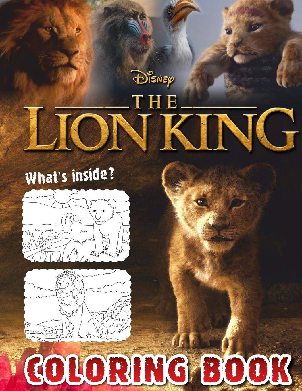 - Lion King Coloring Book: Lion King 2019 Coloring Book, Disney 2019
