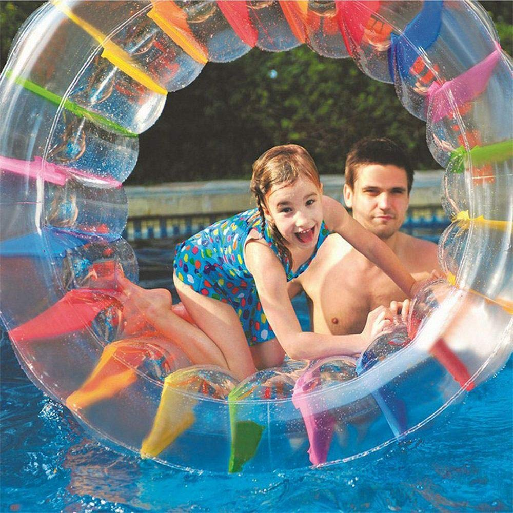 Juweishangmao Kids' Toys Inflatable Water Wheel Inflatable Pool Water Floating Ride Ball Kids Toys for Summer Beach Themed Party by Juweishangmao