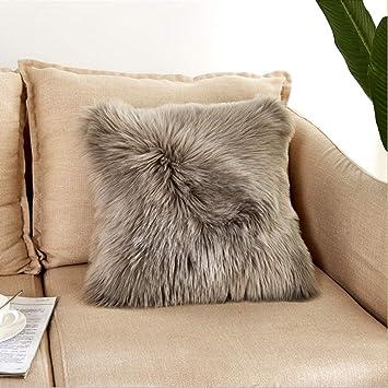Flauschig Fellimitat Sofa Kissenbezug Kuschelig Plüsch Sessel Schlafzimmer