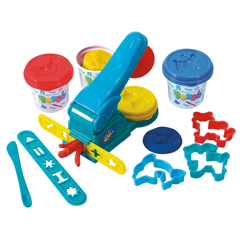 PlayGo Dough Press 3 x 5-Ounce Dough Included Midos Toys Distributor 8638