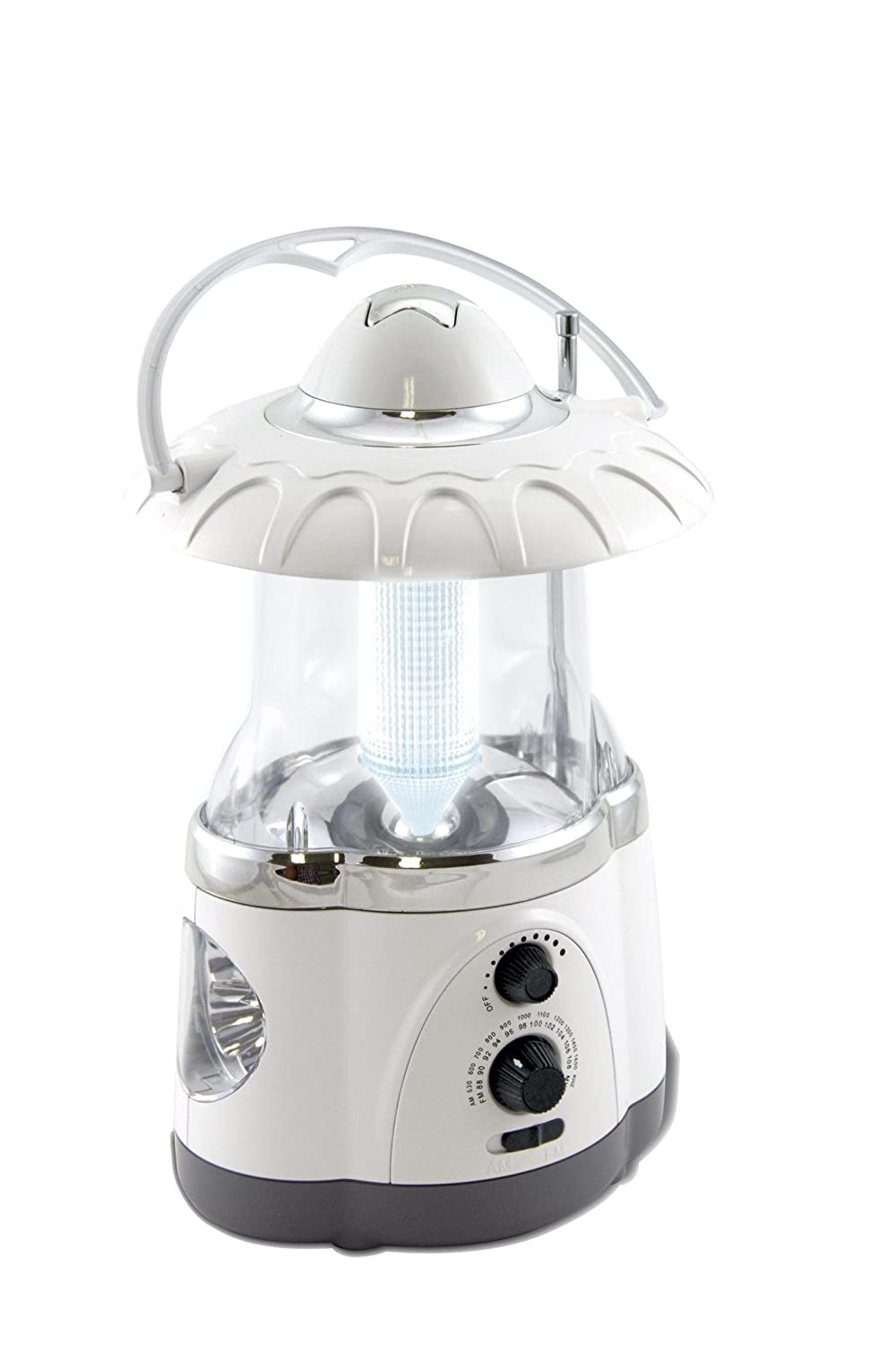 Northpoint 12-LED Lantern with 4-LED Flashlight and AM FM Radio