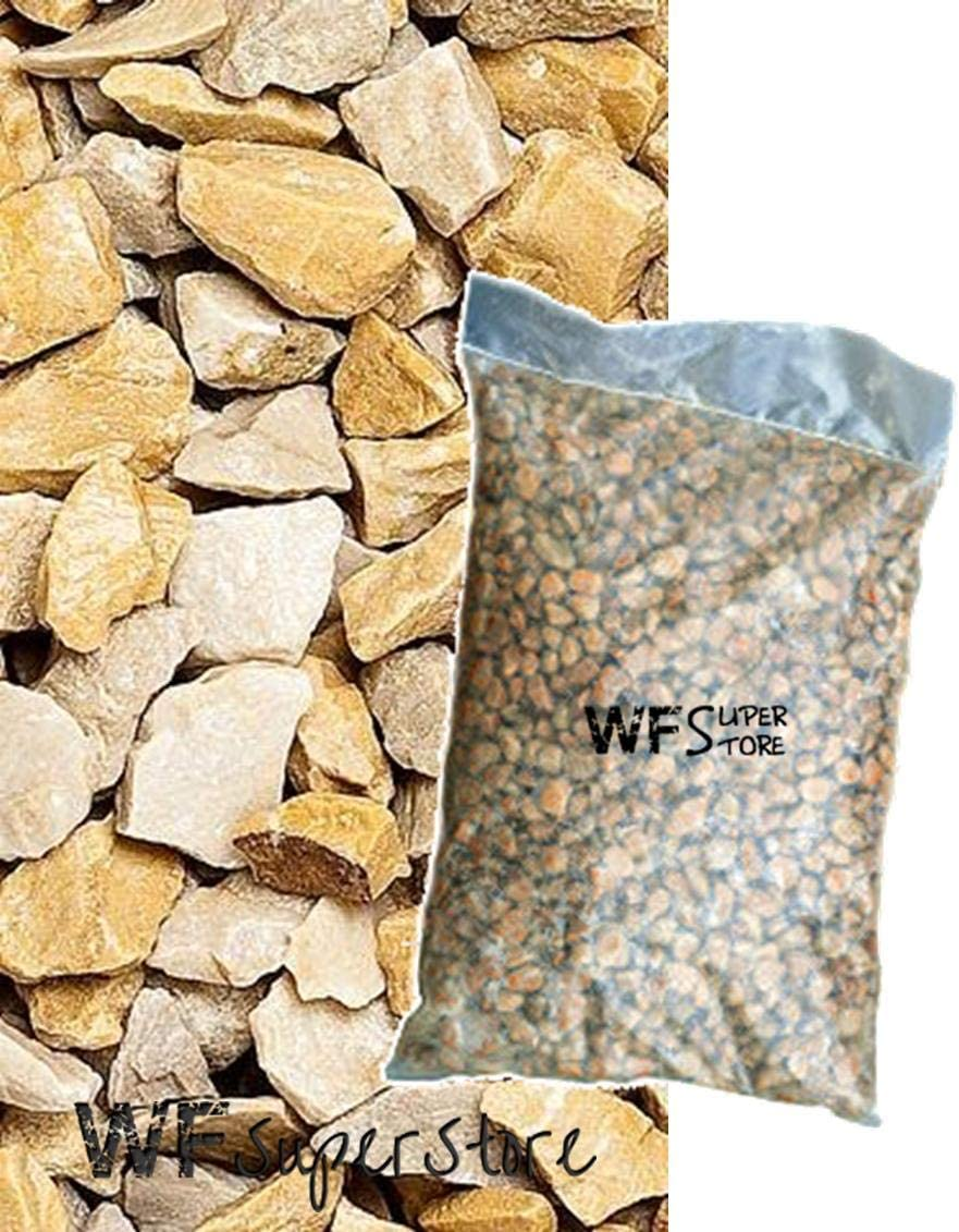 WUEFFE - Arena de mármol Amarillo para Paredes de 8/12 mm – Saco de 25 kg – Piedras de jardín: Amazon.es: Jardín