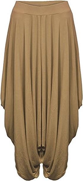 NEW LADIES BAGGY LAGENLOOK GATHERED HAREM ALIBABA BOHO PANTS TROUSERS UK8-26