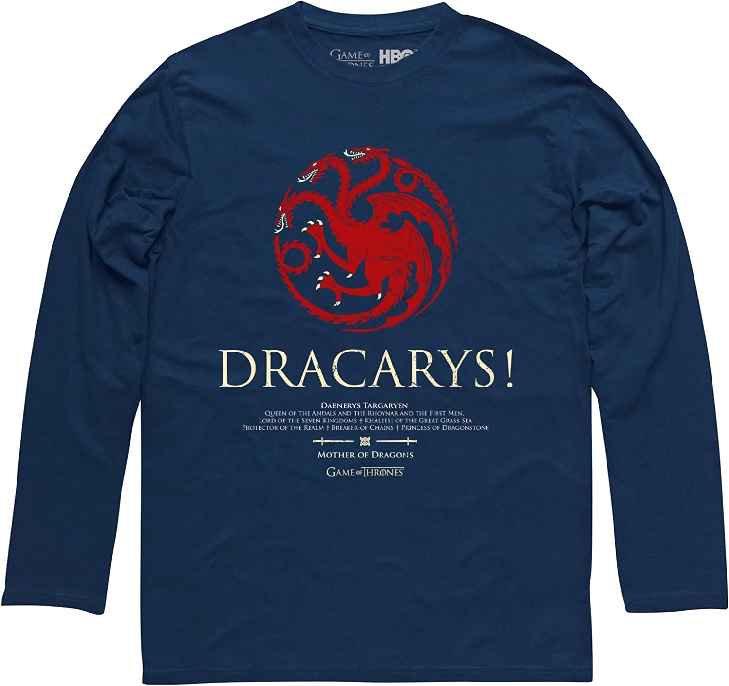 Game of Thrones Official Dracarys Uomo T-Shirt