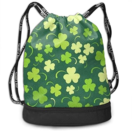 Drawstring Backpack Shamrock Gym Bag