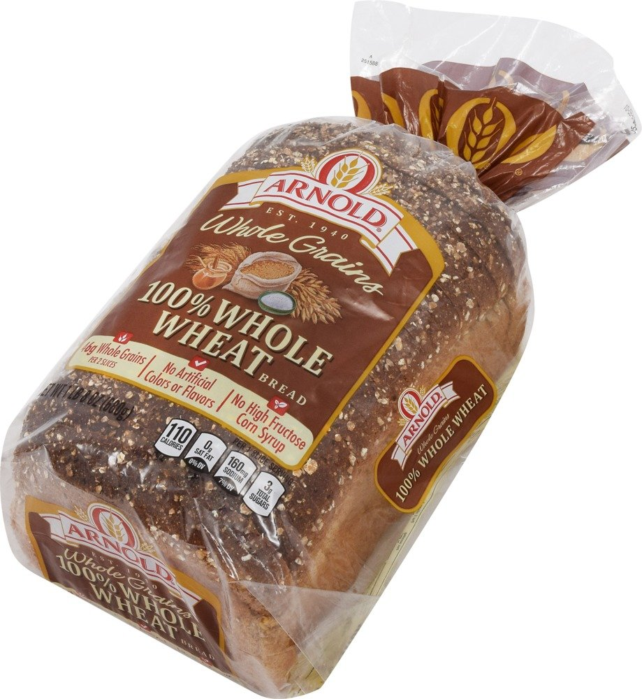Arnold Whole Grains 100% Whole Wheat Sliced Bread, 24 Oz: Amazon.com:  Grocery & Gourmet Food