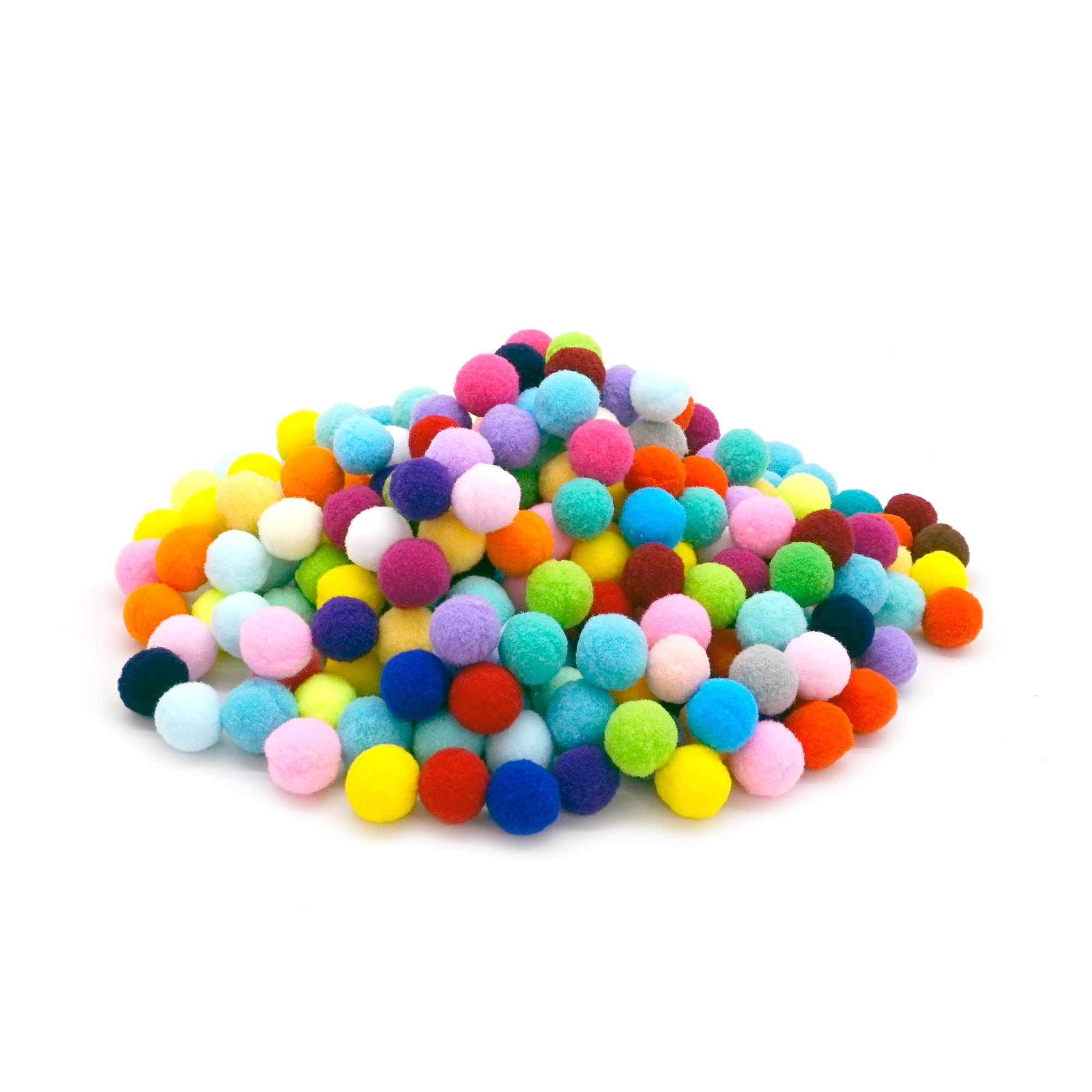 Pom Poms Craft Assorted Colors or Hobby Supplies and DIY Creative Crafts Decorations, 1 Inch Round Pack of 250