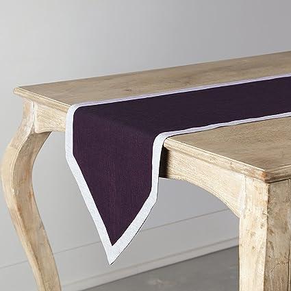 100% camino de mesa (lino puro, Concordia con frontera ...