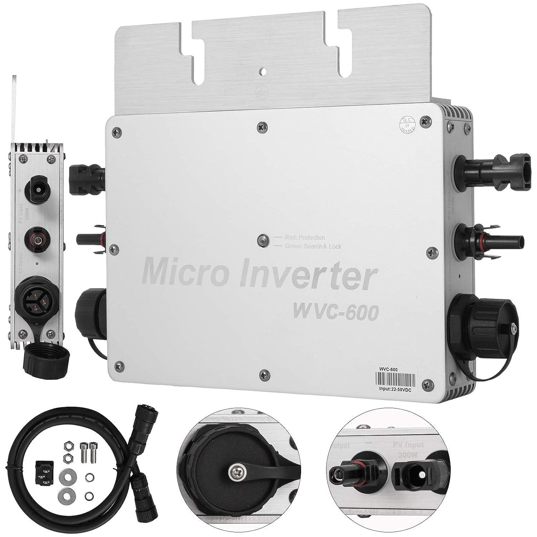 Mophorn 600W MPPT Waterproof Solar Grid Tie Inverter DC To AC 110V Micro Inverter (600W 110V)