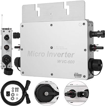 600W MPPT Grid Tie Micro Solar Inverter 110V//220V  Pure Sine Wave Reverse Power