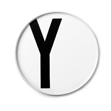 Teller Porzellan Arne Jacobsen Buchstabe: O Design Letters