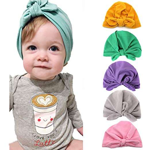 12c2e724f766a Newborn Baby Knot Hat Nursery Beanie Hospital Hat Cotton Head Wrap Baby Hat  Head Cap for Boys Girls
