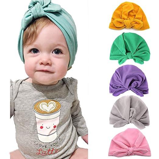 e75e469eb42bf9 Newborn Baby Hat Toddler Cotton Beanie Head Wrap Baby Hospital Turban Head  Caps