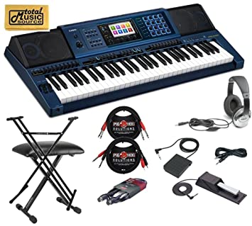 702a63909112 Casio MZ-X500 Arranger Keyboard 61 Key Stage Bundle  Amazon.ca ...