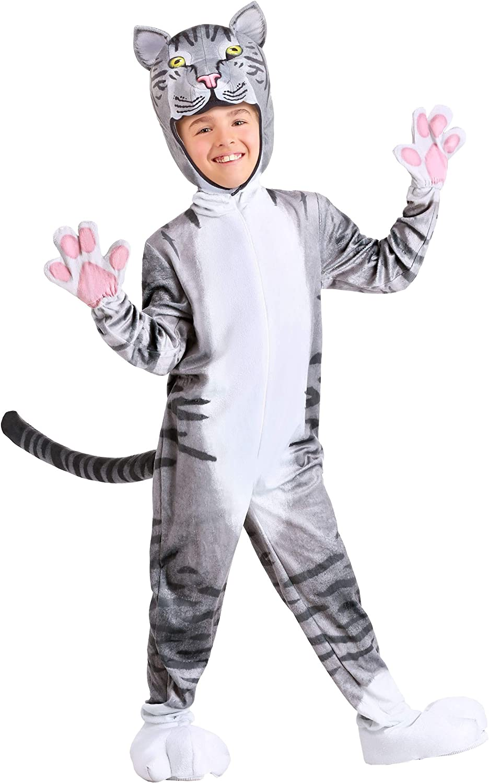 Fun Costumes Disfraz de gato curioso para niños - Gris - Small ...