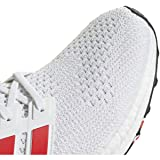 adidas Men's Ultraboost, White/Active red/Chalk