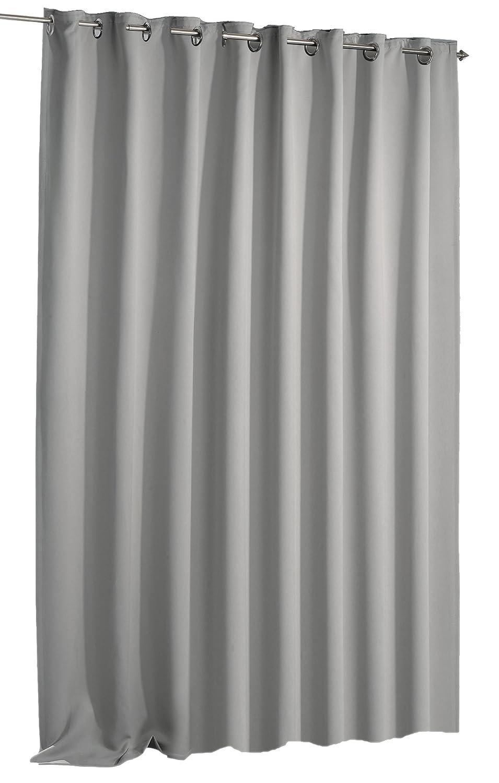 Verdunkelungsvorhang schwarzout Vorhang extra breit Ösen blickdicht ca. 270x245 cm Gardine  1349 (grau)