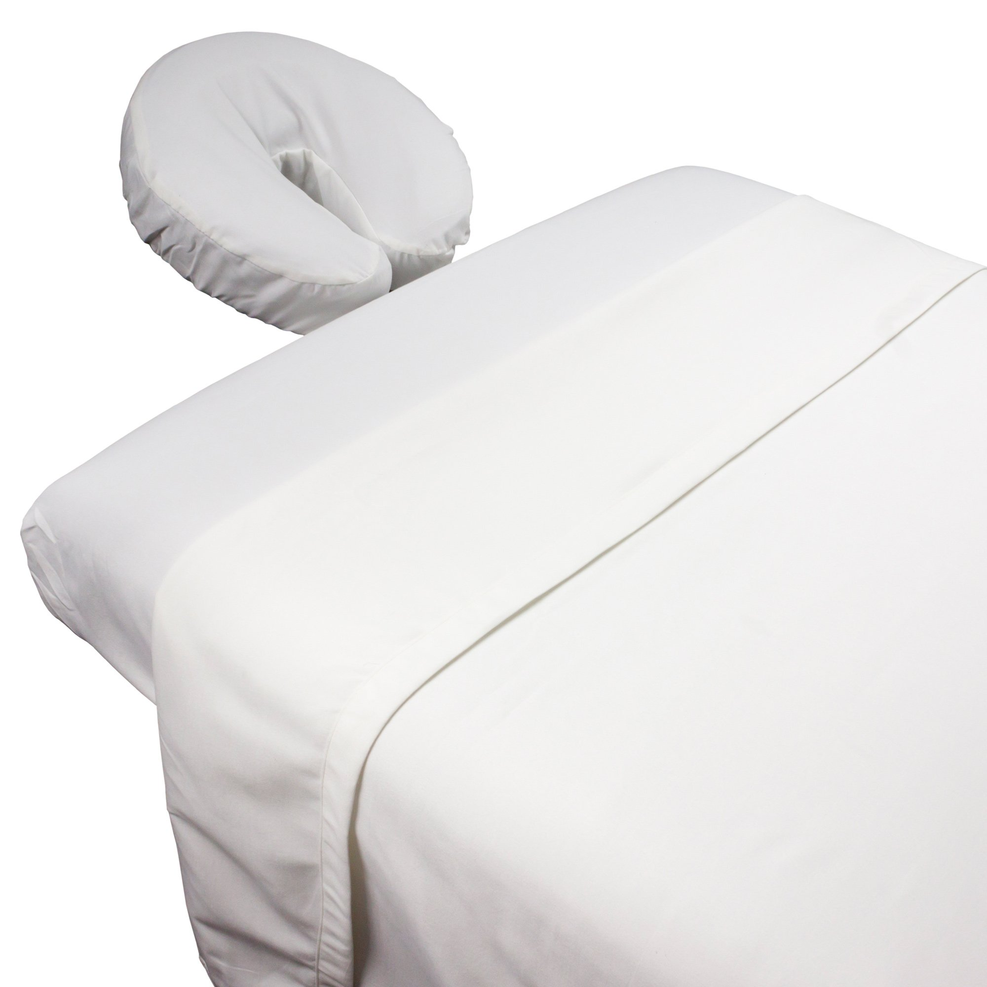Tranquility Microfiber Massage Sheet Sets By Body Linen - Lightweight, Long-Lasting Microfiber Massage Table Sheet Set - Stain-Resistant, Soft and No Pilling {White}