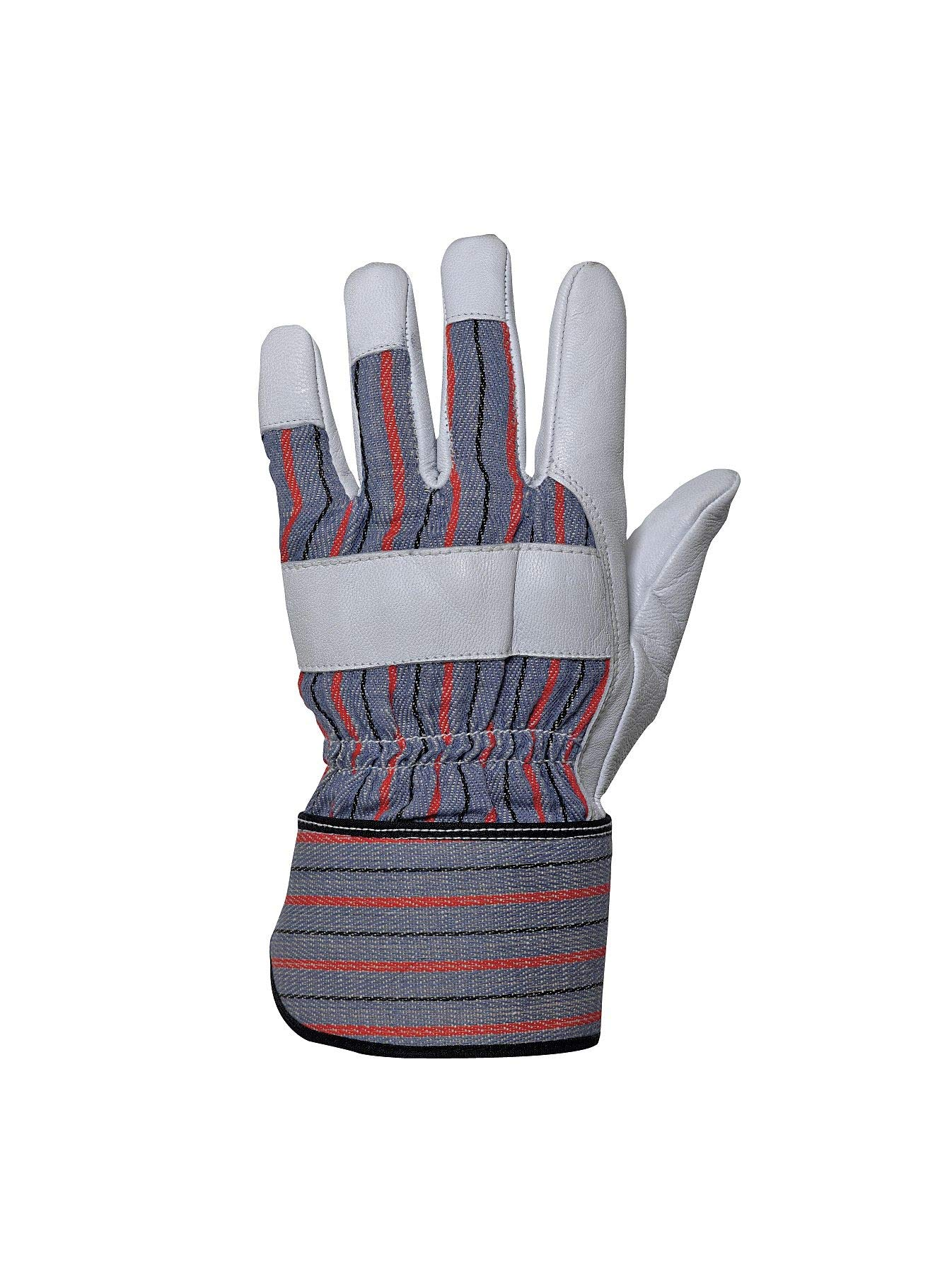 Impacto Anti-Vibration Gloves, Leather Palm Material, White, M, PR 1 - BGFITL-M
