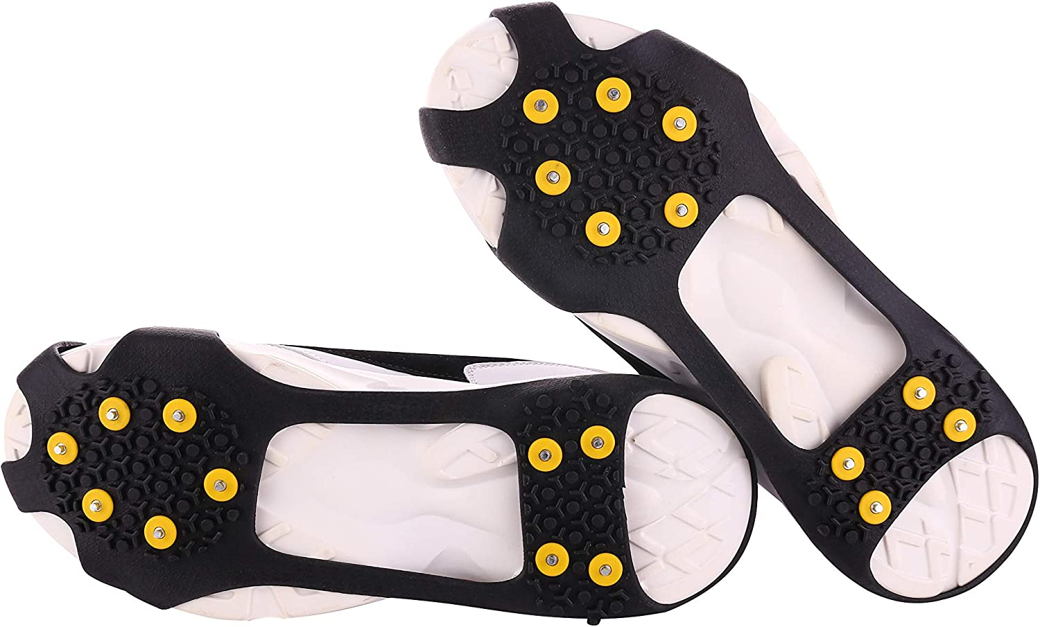 danpeng Ice Grips, Ice & Snow Grips Over Shoe Boot Traction Cleat Spikes Anti Slip 10-Tooth Crampon Non-Slip Shoe Cover