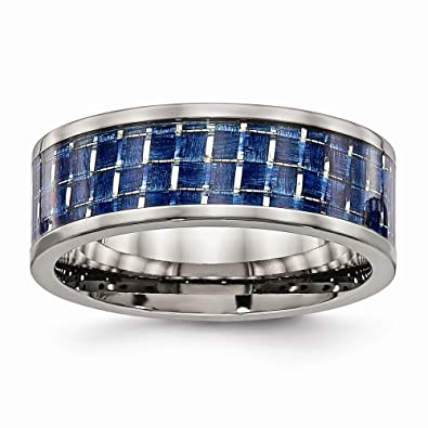 Jewel Tie Titanium Polished and Brushed Black CZ Cubic Zirconia Ring