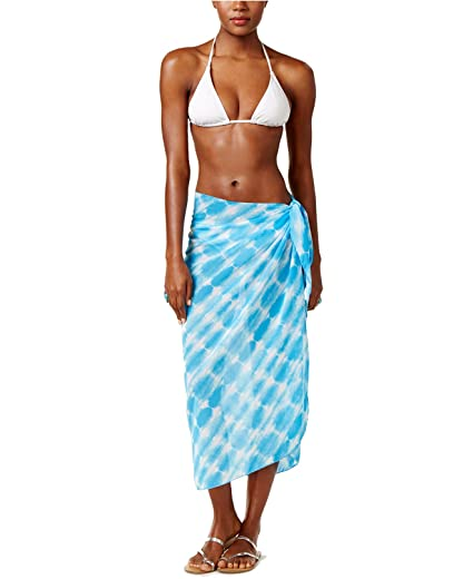 ad41be3ffef1a Dotti Women's Sky is The Limit Printed Sarong Cover-Up Swimsuit Blue One  Size at Amazon Women's Clothing store:
