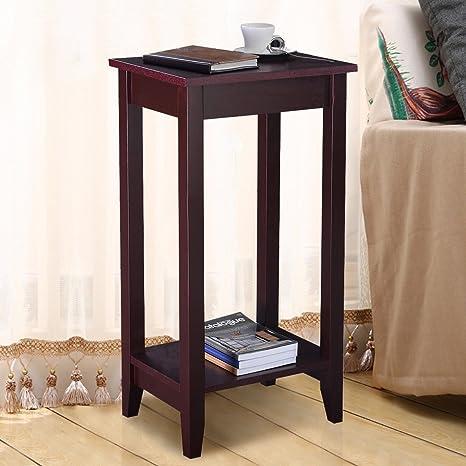 Amazon.com: G & Gonline de alto mesa auxiliar café soporte ...