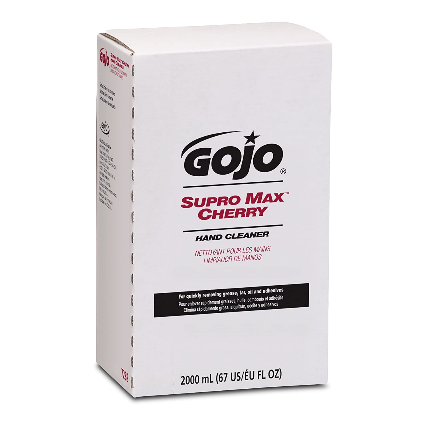 janitorial supplies amazon com gojo 7282 04 2000 ml supro max cherry hand cleaner pro tdx 2000 refill