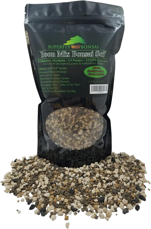 "Boon Bonsai Soil Mix""Boon Mix"" - Inorganic Substrate with Pumice, Lava and Akadama (1.25 Dry Quarts)"