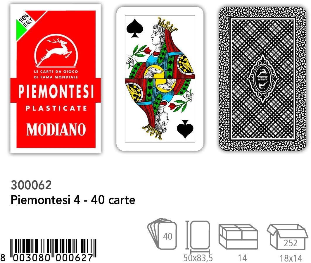 Modiano Piemontesi 4 Regional Playing Cards