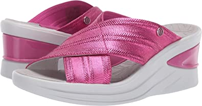 8e4312712251 BZees Women s Vista Pink Metallic Fabric 6 ...