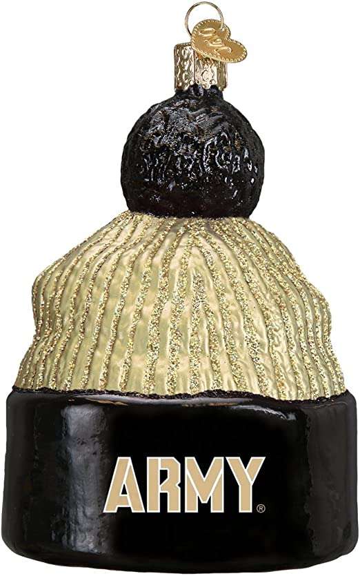 Army Beanie Glass Blown Ornaments for Christmas Tree Old World Christmas Ornaments