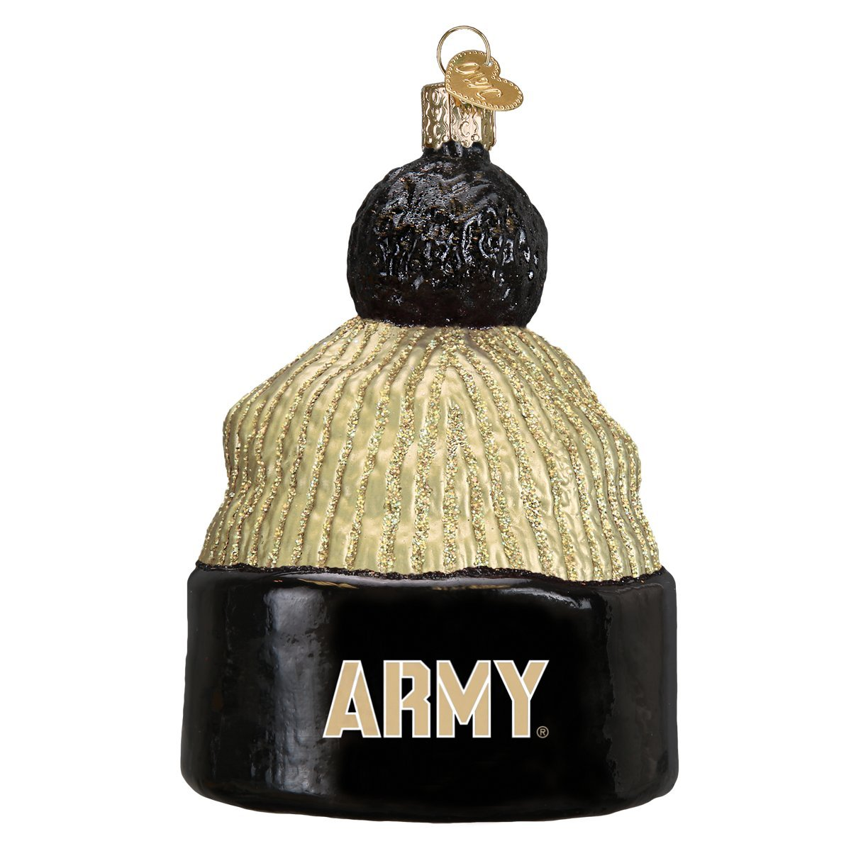 Old World Christmas Ornaments: Army Beanie Glass Blown Ornaments for Christmas Tree 64914
