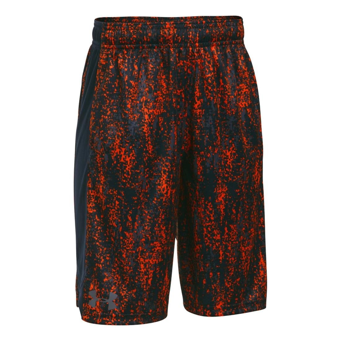 Under Armour Boys Eliminator Printed Short, Orange/Anthracite, MD (10-12 Big Kids) x One Size by Under Armour
