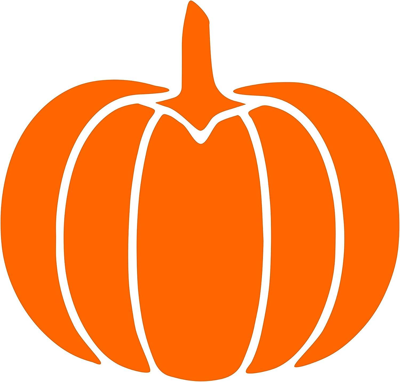 "Sweet Tea Decals Pumpkin - 3 3/4"" x 3-1/2""- Orange Vinyl Die Cut Decal/Bumper Sticker for Windows, Trucks, Cars, Laptops, Glasses. Mugs, Etc."