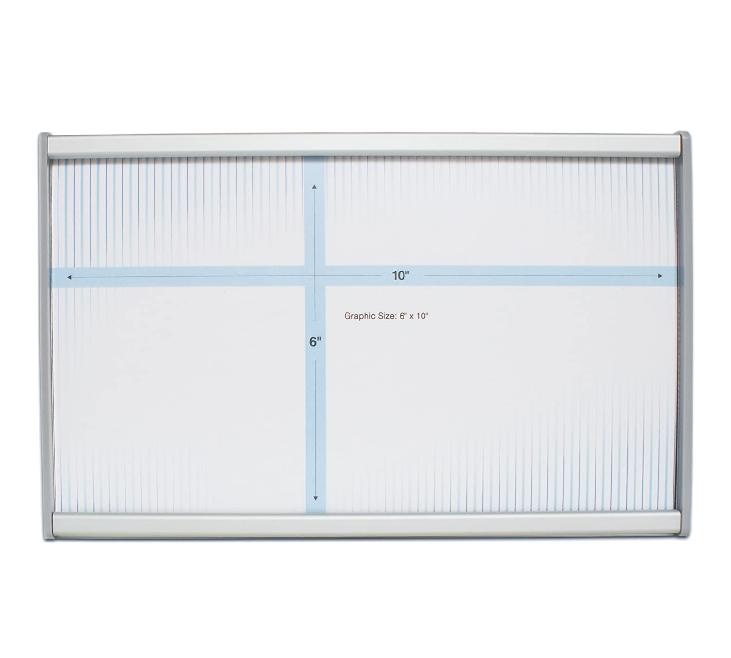 6x4 Brushed Aluminum HID-WML-F604 Howard Industries Changeable Business and Store Sign Holder with Suction Cup