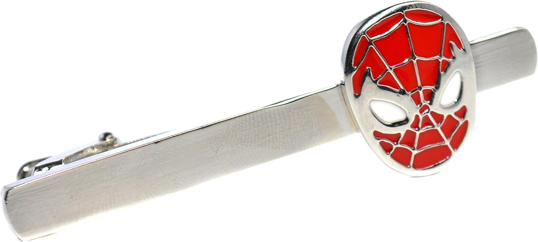 Rojo y plata Clip de corbata - Superhero de Spiderman accesorio ...