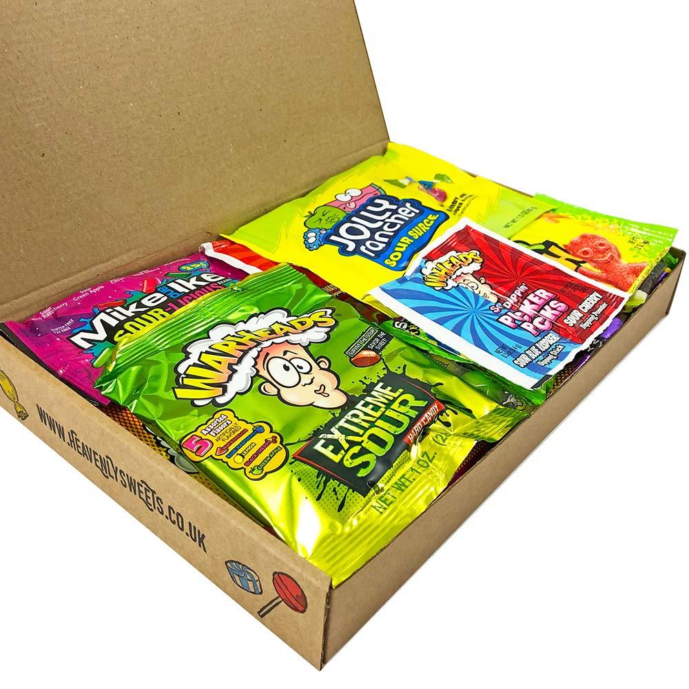 Geschenkkorb Mit Saure Amerikanische Sussigkeiten Sour Jelly Beans Auswahl Beinhaltet Warheads Extreme Super Saures Geschenkset Aus Den Usa 17 Produkte In Tollen Geschenkebox