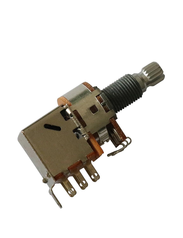 Amazon.com: Electric Guitar Bass Push Pull Potentiometer Audio Volume Tone  Split Shaft Control Switch Pots 18mm New Replacement Parts (B250K): Musical  ...