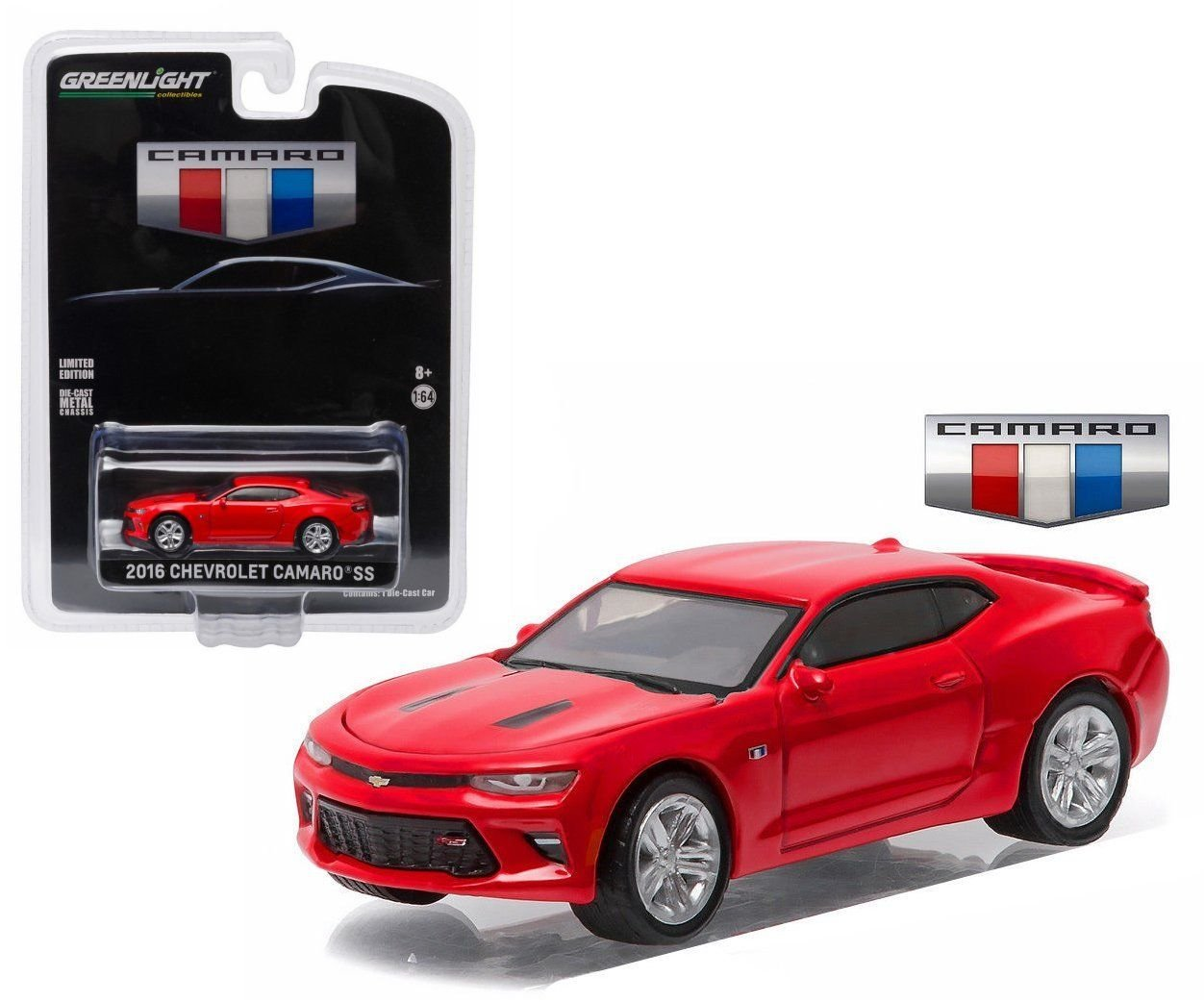 New 1:64 GrünLIGHT COLLECTION - ROT 2016 CHEVROLET CAMARO SS ALL NEW UNVEILING EDITION Diecast Model Car By Grünlight by Grünlight