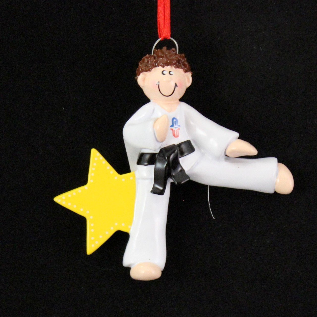 Karate christmas ornament - Amazon Com 8273 Karate Boy Brown Hand Personalized Christmas Ornament By Rudolph And Me Home Kitchen