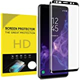 for Samsung Galaxy S9 Plus Tempered Glass Screen Protector,Jyline[9H Hardness][Case Friendly] Tempered Glass Screen Protector for Galaxy S9 Plus