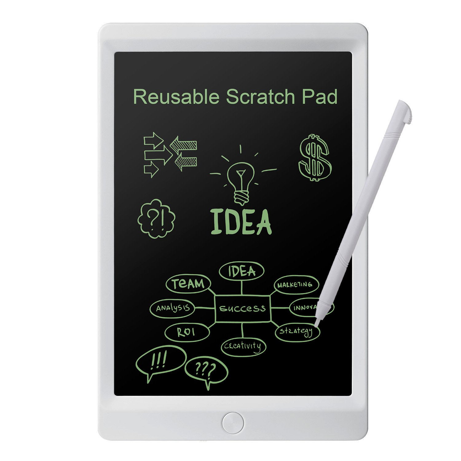 Parallel Halo 10-Inch LCD Writing Tablet- Electronic Drawing Board Gifts for Kids Office Writing Board (White10)