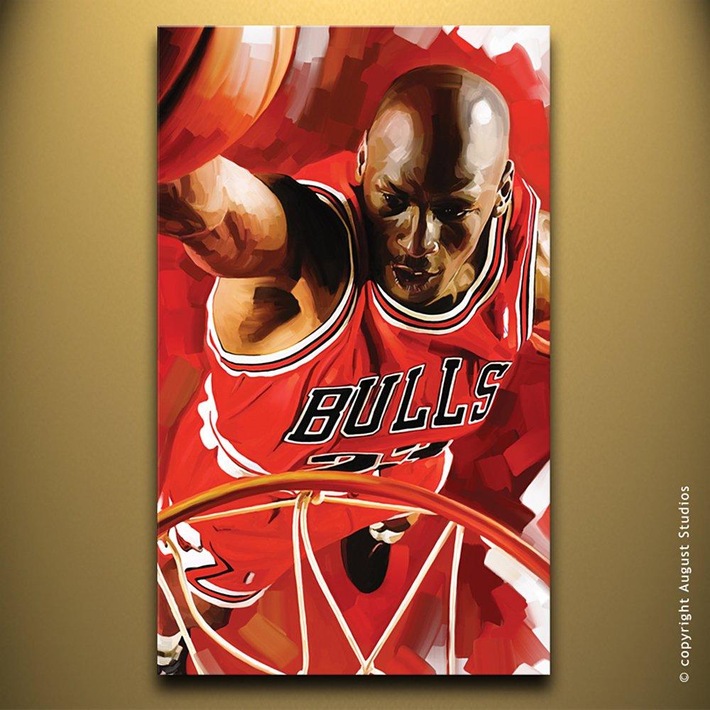 Michael Jordan Baloncesto NBA Original Decoración para Pared ...
