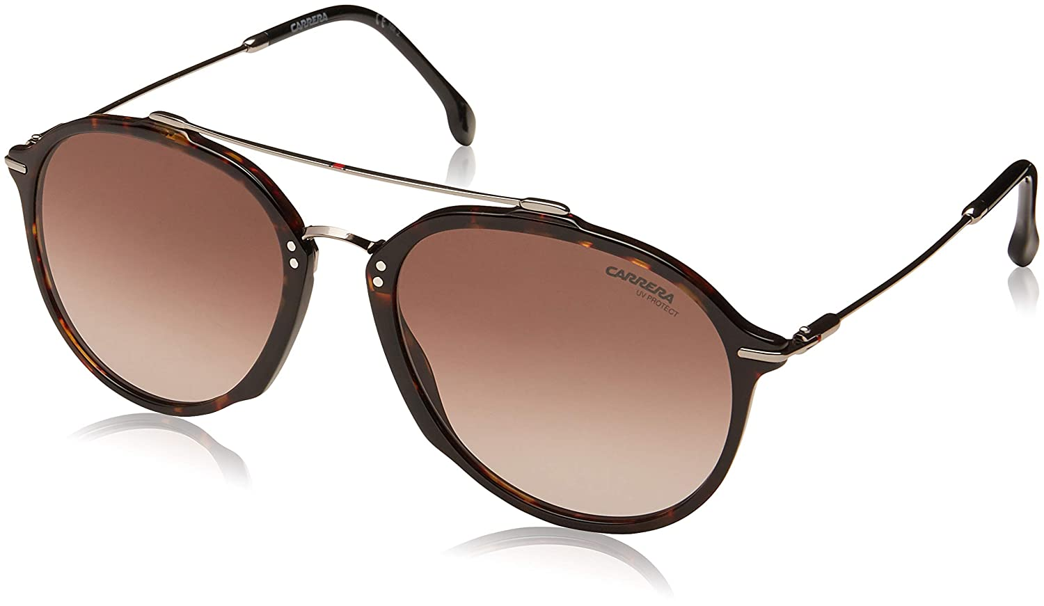 1d1d2c6444 Amazon.com  Carrera 171 S 086 HA Dark Havana Plastic Aviator Sunglasses  Brown Gradient Lens  Clothing