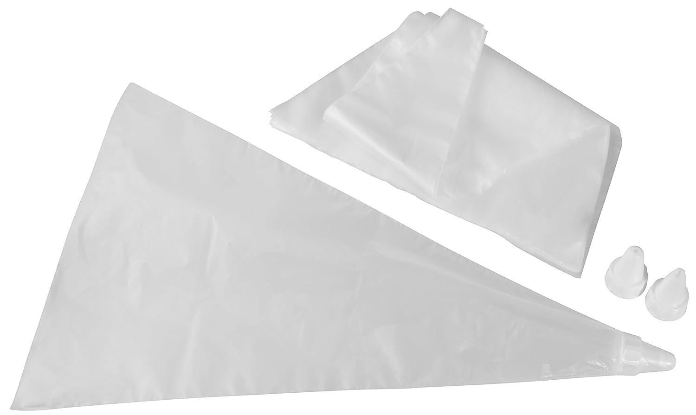 Kunststoff-Spritzt/üten T/üllen PATISSERIE Menge: 20 Beutel Zenker Einwegspritzbeutel inkl Farbe: Wei/ß Sahne-Dressiers/äcke 3 T/üllen