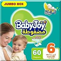 BabyJoy Compressed Diamond Pad, Size 6, Junior XXL, 16+ kg, Jumbo Box, 60 Diapers