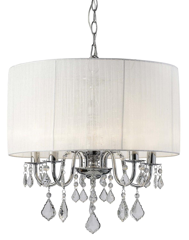 amazon com canarm ich438a05ch18 sarah 5 light chandelier home